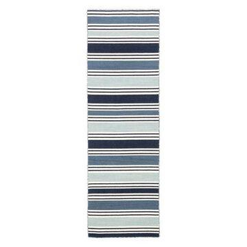 Jaipur Living Salada Stripe Blue/White Area Rug, 2'6