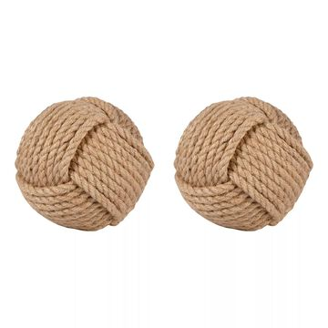 Pomeroy 6-in. Sailor's Knot Rope Sphere Table Decor 2-piece Set