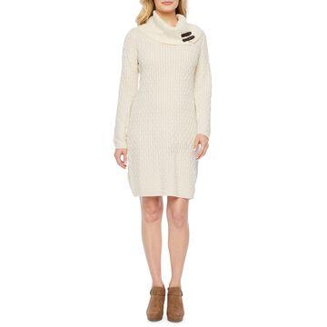 Studio 1 Long Sleeve Sweater Dress-Petite