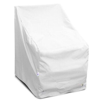 High Back Chair Cover Large, White