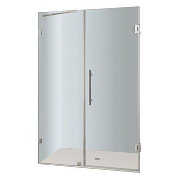 Aston Nautis Completely Frameless Hinged Shower Door, Chrome, 49