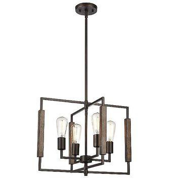 ELK Lighting Zinger Chandelier - Color: Bronze - Size: Small - 75161/4
