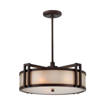 Metropolitan N6966-267B Underscore 3 Light Drum Pendant