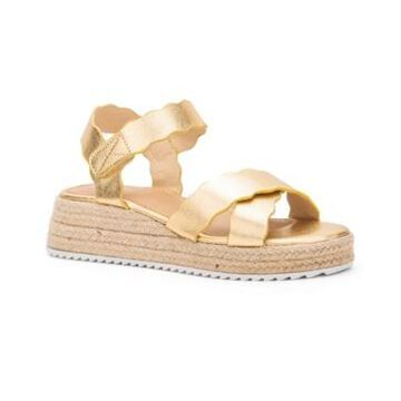 Olivia Miller Women's Trinity Scalloped Espadrille Wedge Sandals Women's Shoes