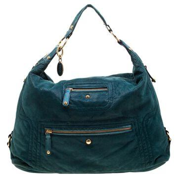 Tod's Green Suede Handbags