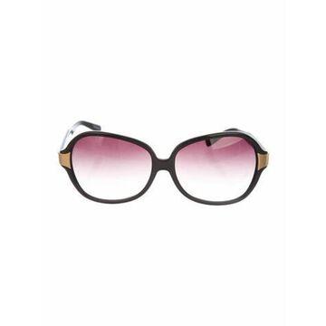 Acetate Round Sunglasses Black