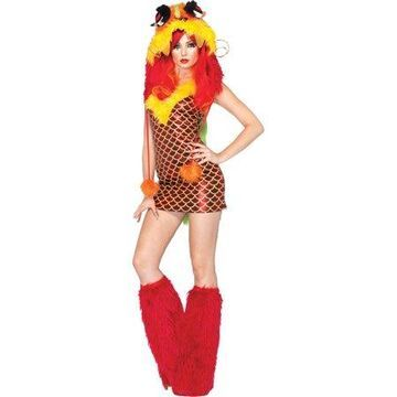 Leg Avenue Women's 2 Piece Emperial Dragon Costume, Red, Medium/Large