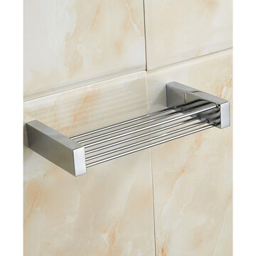 General Hotel Chrome Brass Rectangular Shower Basket