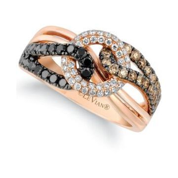 Le Vian Exotics Diamond Looped Statement Ring (7/8 ct. t.w.) in 14k Rose Gold
