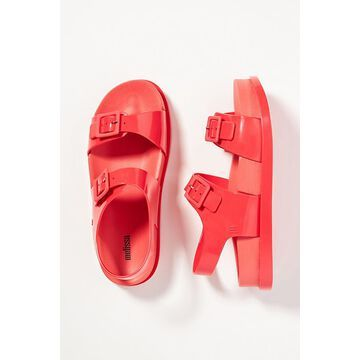 Double Buckle Platform Jelly Sandals By Melissa in Red Size 9