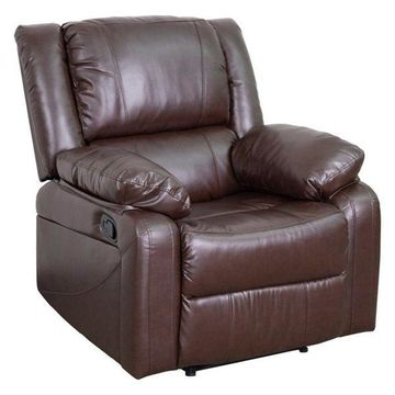 Pemberly Row Leather Recliner in Brown