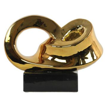 Ceramic Sculpture, Polished Chrome Gold