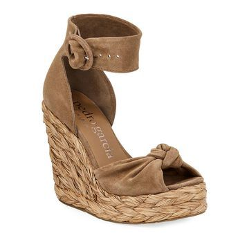 Tacy Suede Wedge Sandals