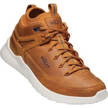 KEEN Men's Highland Mid Sneaker - 7.5 - Sunset Wheat / Silver Birch