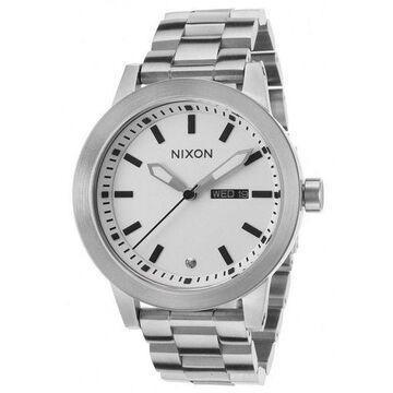 Nixon A263100 Womens Silver Steel Bracelet With White Analog Dial Genuine Watch