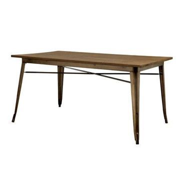 Furniture of America Bradford Industrial Dining Table