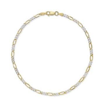 Giani Bernini Thin Figaro Chain Ankle Bracelet in 18k Gold-Plated Sterling Silver, Created for Macy's