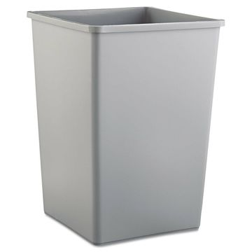 Rubbermaid Commercial Untouchable Waste Container Square Plastic 35gal Gray