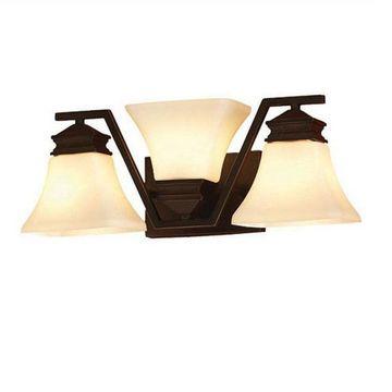 allen + roth 3-Light Bronze Transitional Vanity Light