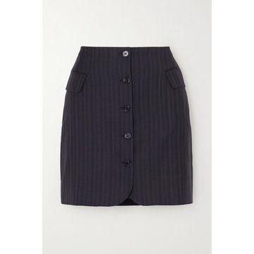 Acne Studios - Pinstriped Wool Mini Skirt - Navy