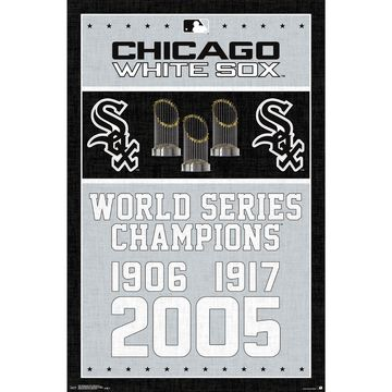 Chicago White Sox World Series Champions 24.25'' x 35.75'' Framed Poster