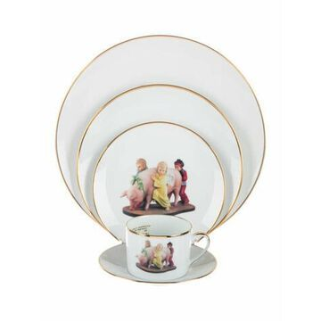 5-Piece Limited Edition Ushering in Banality Place Setting white