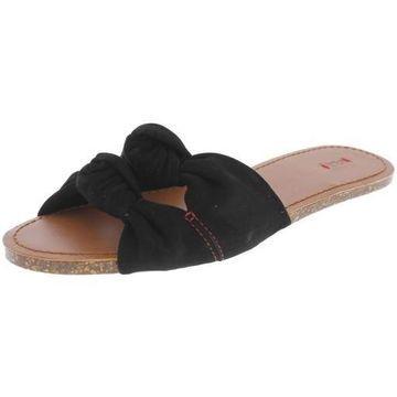 ED Ellen DeGeneres Womens Shiri Suede Knot Flat Sandals