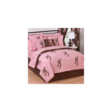 Browning Buckmark 4-pc. Pink Midweight Comforter Set