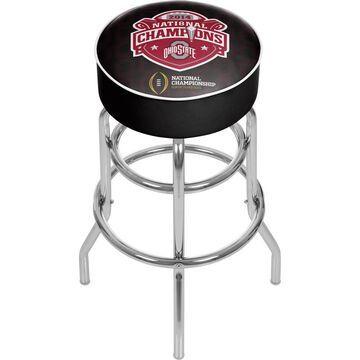 Trademark Gameroom Ohio State Buckeyes Bar Stools Chrome Bar height (27-in to 35-in) Upholstered Swivel Bar Stool | OSU1000-NC1