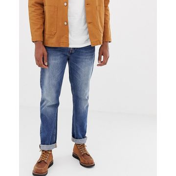 Nudie Jeans Co Sleepy Sixten loose tapered fit jeans in celestial orange