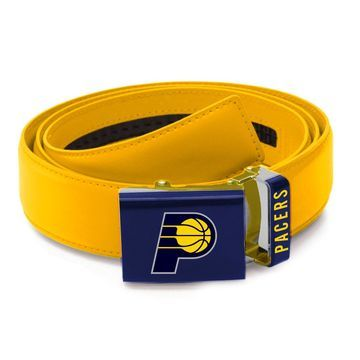 Indiana Pacers Zephyr Leather Mission Belt - Gold