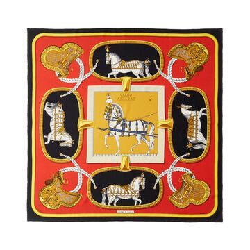 Hermes Grand Apparat, By Jacques Eudel Silk Scarf