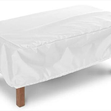 KoverRoos 14265 Weathermax Ottoman-Small Table Cover, White - 48 L x 24 W x 15 H in.