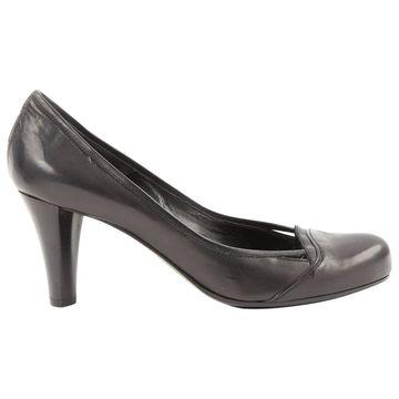 Costume National Black Leather Heels