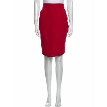 Vintage Knee-Length Skirt Red