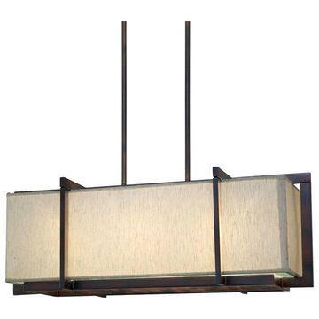 Forte Lighting 7029-03 3 Light Linear Chandelier