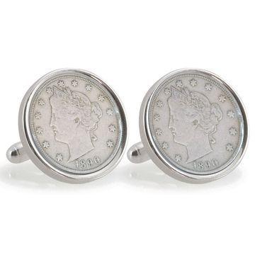 American Coin Treasures Sterling Silver Nickel University of Oklahoma 1890 Cuff Links