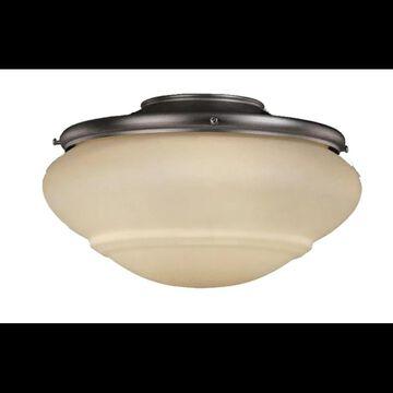 """Vaxcel Lighting LK51216 Fan Light Kit 11.75"""" 2-Light Ceiling Fan Light Kit with Medium (E26) Bulb 13 Watts Each Noble Bronze Ceiling Fan Accessories"""