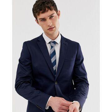 Esprit slim fit suit jacket in navy