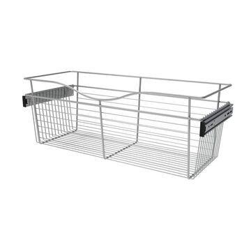Rev-A-Shelf Closet Accessories 30-in x 11-in x 12-in Chrome Basket