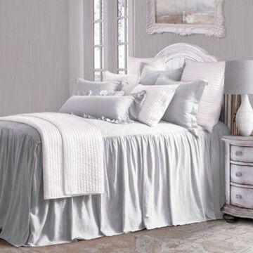HiEnd Accents 3 Pc Luna Bedspread Set, Full Gray FB1827-FL-GY