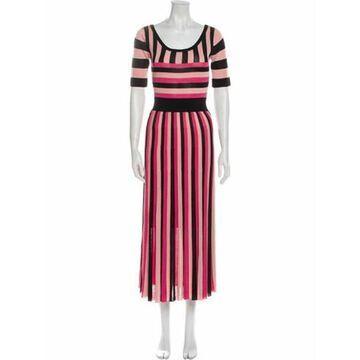 Striped Long Dress w/ Tags Pink