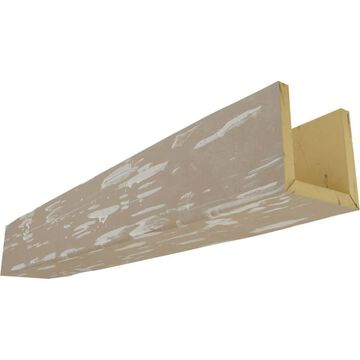 Ekena Millwork Pecky Cypress 4-in x 6-in x 96-in White Washed Prefinished Polyurethane Decorative Beam in Brown | BMPC3C0060X040X096WH