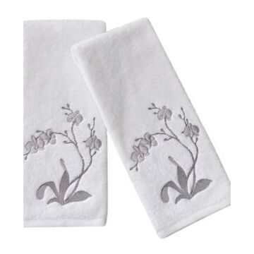 Michael Aram Orchid Embroidered Towel Set, 2 Pieces Bedding