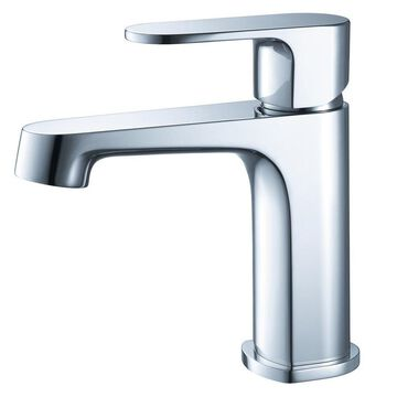 Fresca Gravina Chrome 1-Handle Single Hole WaterSense Bathroom Sink Faucet