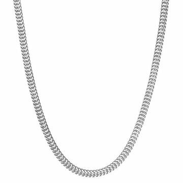 """Men's LYNX Stainless Steel Snake Chain Necklace, Size: 24"""", Grey"""