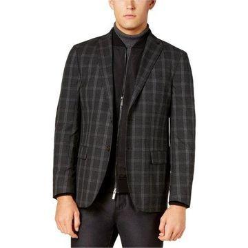 Ryan Seacrest Distinction Mens Windowpane Two Button Blazer Jacket