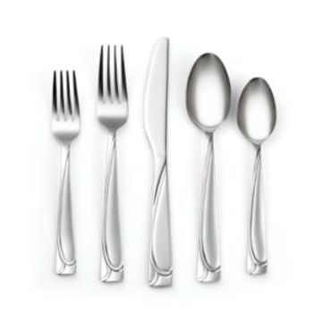 Cambridge Mena Frost 40-Piece Flatware with Chrome Buffet