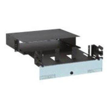 Panduit FRME2U Opticom Rack Mount Fiber Enclosure - Rack cable enclosure - black - 2U - 19/23