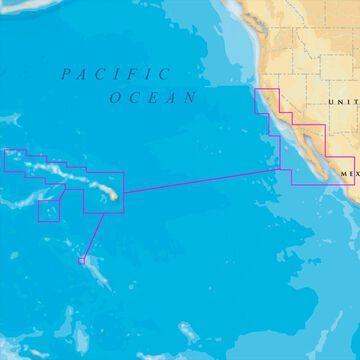 Navionics Platinum Plus Hawaii - California South to Baja MSD/644PP Platinum Plus Hawaii California South - Blue